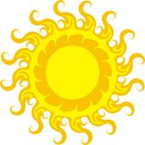 Sun icon light Royalty Free Stock Photos
