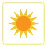 Sun icon Light sign yellow design Royalty Free Stock Photos