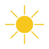 Sun icon Light yellow Stock Images