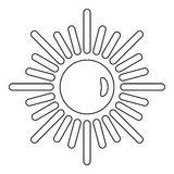 Sun icon, outline style Royalty Free Stock Photography