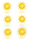 Sun Icon Set Stock Photo