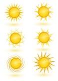 Sun Icon Set Stock Photo