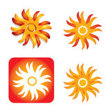 Sun -  icon set Stock Photography