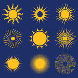 Sun Icon Set Royalty Free Stock Images