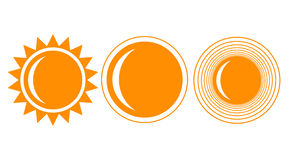 Sun. Icon set. Summer Royalty Free Stock Images