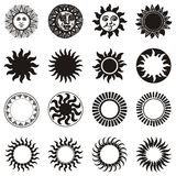 Sun icon set Stock Photos