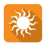 Sun icon with shadow Stock Photography