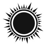 Sun icon, simple style Stock Photography