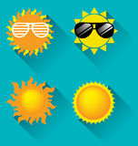 Sun icon for summer concept Royalty Free Stock Images