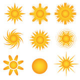 Sun icon-Sunny Royalty Free Stock Image