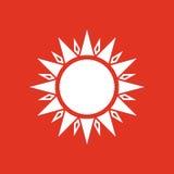 The sun icon. Sunrise and sunshine, weather, sun symbol. UI. Web. Logo. Sign. Flat design. App. Stock Royalty Free Stock Images