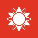 The sun icon. Sunrise and sunshine, weather, sun symbol. UI. Web. Logo. Sign. Flat design. App. Stock Stock Image