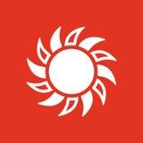The sun icon. Sunrise and sunshine, weather, sun symbol. UI. Web. Logo. Sign. Flat design. App. Stock Royalty Free Stock Photo