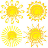 The sun icon. Symbol. Stock Photos