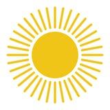 Sun icon. Trendy summer symbol stock illustration