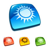 Sun icon. Vector Royalty Free Stock Photography