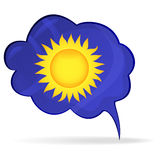 The sun icon. Vector illustration Royalty Free Stock Image