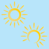 Sun icon. Vector Royalty Free Stock Images
