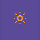 Sun Icon Vector Illustration royalty free stock photos