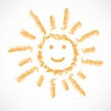 Sun, icona del tempo. Illustrazione ENV 10 di vettore Immagine Stock