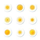 Sun Icons Stock Image