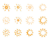 Sun icons Stock Images