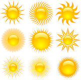 Sun icons Stock Photos