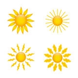 Sun icons Stock Photography