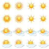 Sun Icons Collection Royalty Free Stock Images