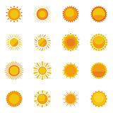 Sun Icons Collection Stock Image