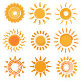 Sun icons collection. Royalty Free Stock Image