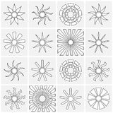 Sun icons collection. Vector illustration Royalty Free Stock Images