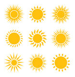 Sun icons collection Royalty Free Stock Image