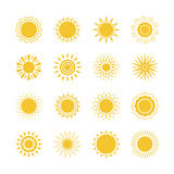 Sun icons collection Stock Images