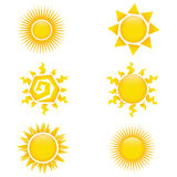 Sun icons Stock Photo