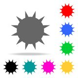 the sun icons. Elements of human web colored icons. Premium quality graphic design icon. Simple icon for websites, web design, mob vector illustration