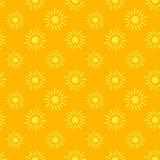 Sun icons seamless pattern Stock Photos