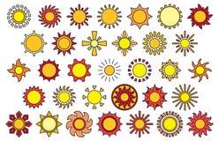 Sun icons Stock Photos