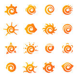 Sun icons set Royalty Free Stock Photography