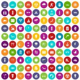 100 sun icons set color Royalty Free Stock Photos