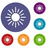 Sun icons set Stock Image