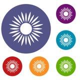Sun icons set Stock Photo