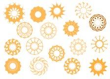Sun icons set II Stock Photos