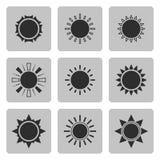 Sun icons set .Part I Royalty Free Stock Photos