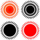 Sun icons Royalty Free Stock Photos