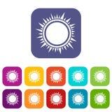 Sun icons set Royalty Free Stock Photo