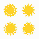 Sun icons and symbols set Royalty Free Stock Photo