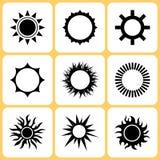 Sun icons. Various sun icons set illustration Stock Image