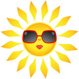 Sun icons. Vector illustration Royalty Free Stock Images