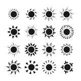 Sun icons vector set Stock Photography